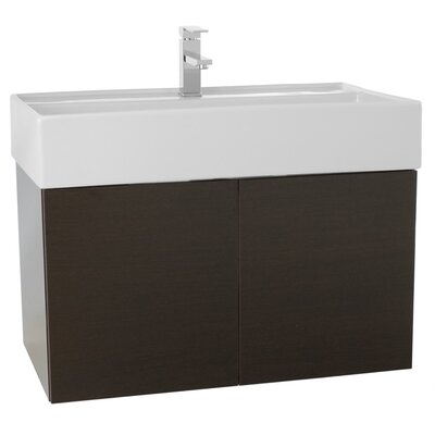 Smile 31 Single Bathroom Vanity Set Base Finish: Wenge