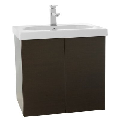 Trendy 23 Single Bathroom Vanity Set Base Finish: Wenge