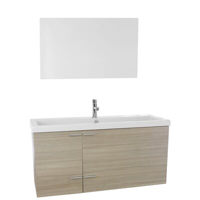 New Space 47 Single Bathroom Vanity Set with Mirror Base Finish: Larch Canapa