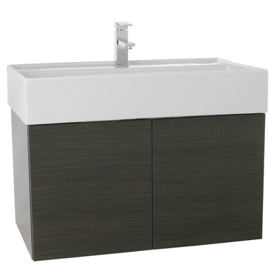 Smile 31 Single Bathroom Vanity Set Base Finish: Gray Oak