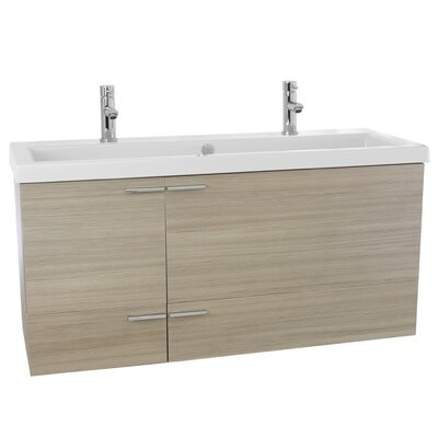 New Space 47 Double Bathroom Vanity Set Base Finish: Larch Canapa