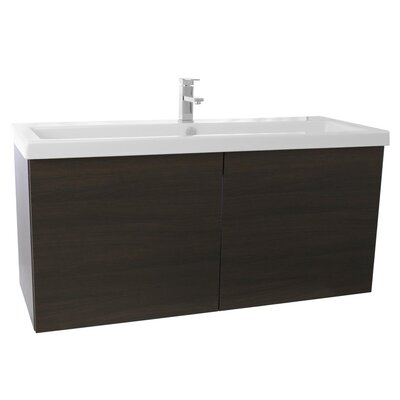 Space 47 Single Bathroom Vanity Set Base Finish: Wenge