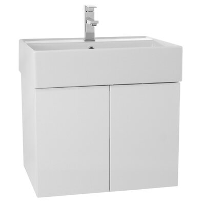 Smile 23 Single Bathroom Vanity Set Base Finish: Glossy White