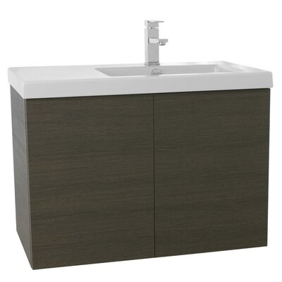 Space 31 Single Bathroom Vanity Set Base Finish: Gray Oak