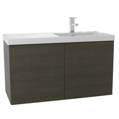 Space 39 Single Bathroom Vanity Set Base Finish: Gray Oak
