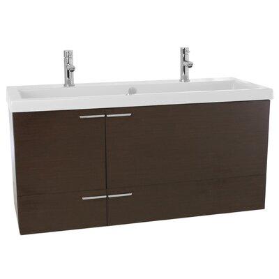 New Space 47 Double Bathroom Vanity Set Base Finish: Wenge