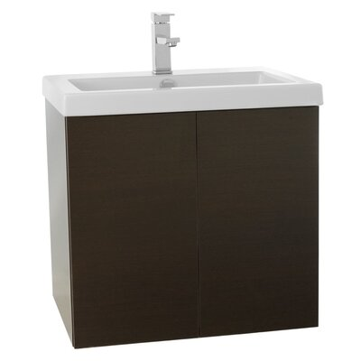 Space 23 Single Bathroom Vanity Set Base Finish: Wenge