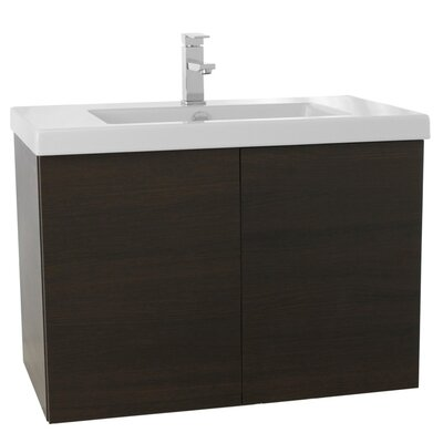 Space 31 Single Bathroom Vanity Set Base Finish: Wenge