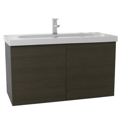 Trendy 39 Single Bathroom Vanity Set Base Finish: Gray Oak