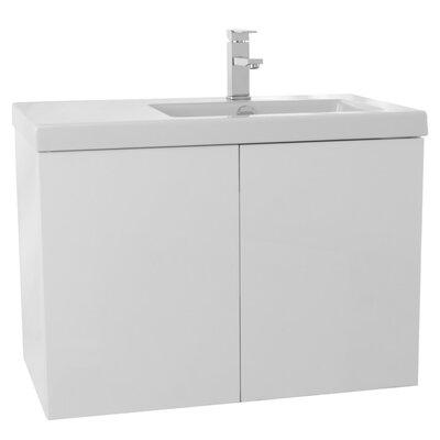Space 31 Single Bathroom Vanity Set Base Finish: Glossy White