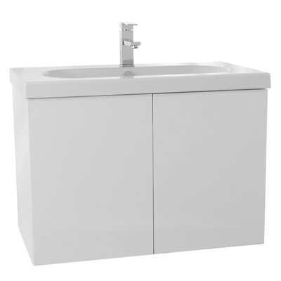 Trendy 31 Single Bathroom Vanity Set Base Finish: Glossy White