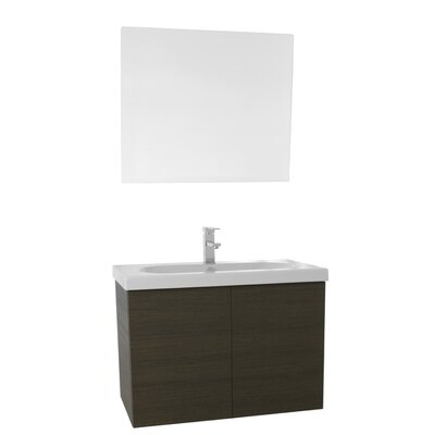 Trendy 31 Single Bathroom Vanity Set with Mirror Base Finish: Gray Oak