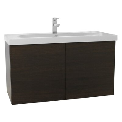 Trendy 39 Single Bathroom Vanity Set Base Finish: Wenge