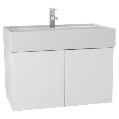 Smile 31 Single Bathroom Vanity Set Base Finish: Glossy White