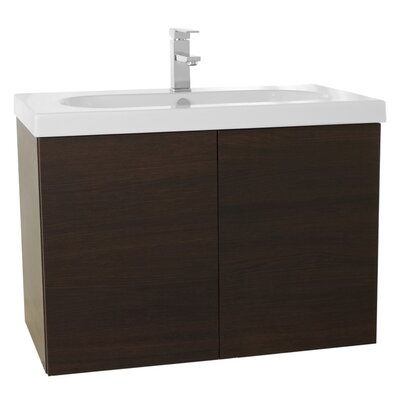 Trendy 31 Single Bathroom Vanity Set Base Finish: Wenge