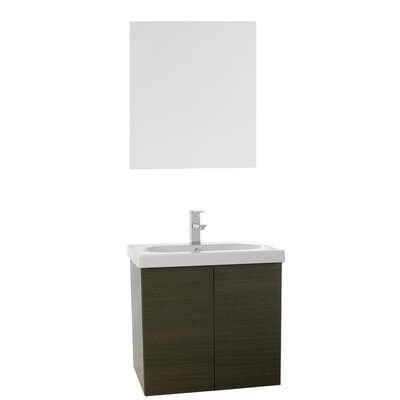 Trendy 23 Single Bathroom Vanity Set with Mirror Base Finish: Gray Oak
