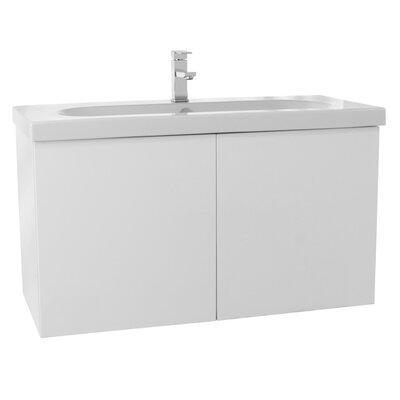 Trendy 39 Single Bathroom Vanity Set Base Finish: Glossy White