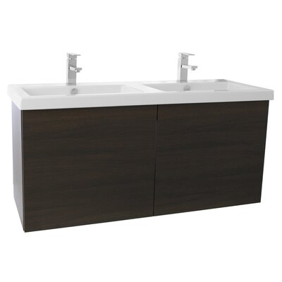 Space 47 Double Bathroom Vanity Set Base Finish: Wenge