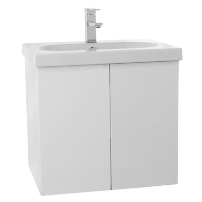 Trendy 23 Single Bathroom Vanity Set Base Finish: Glossy White