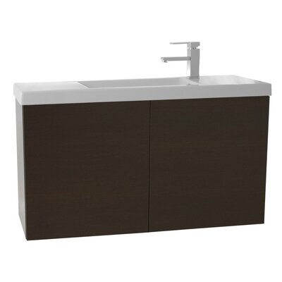 Happy Day 39 Single Bathroom Vanity Set Base Finish: Wenge