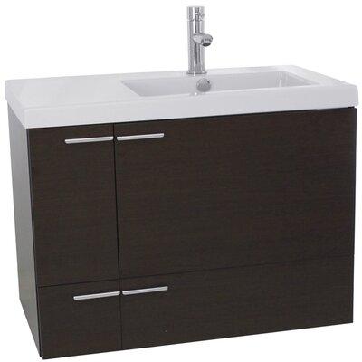 New Space 31 Single Bathroom Vanity Set Base Finish: Wenge