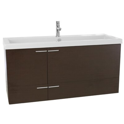 New Space 47 Single Bathroom Vanity Set Base Finish: Wenge