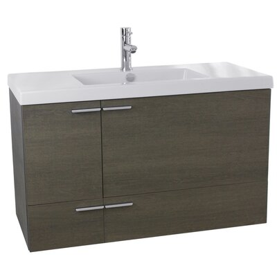 New Space 39 Single Bathroom Vanity Set Base Finish: Gray Oak