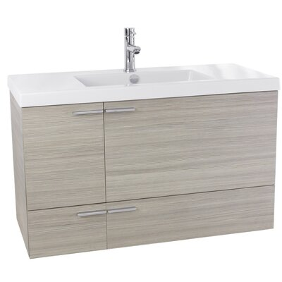 New Space 39 Single Bathroom Vanity Set Base Finish: Larch Canapa