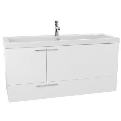 New Space 47 Single Bathroom Vanity Set Base Finish: Glossy White