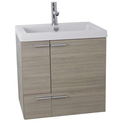 New Space 23 Single Bathroom Vanity Set Base Finish: Larch Canapa