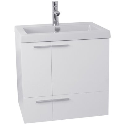 New Space 23 Single Bathroom Vanity Set Base Finish: Glossy White