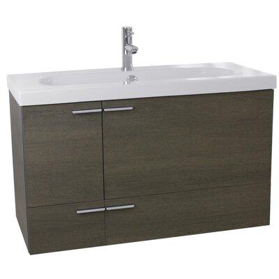 New Space 31 Single Bathroom Vanity Set Base Finish: Gray Oak