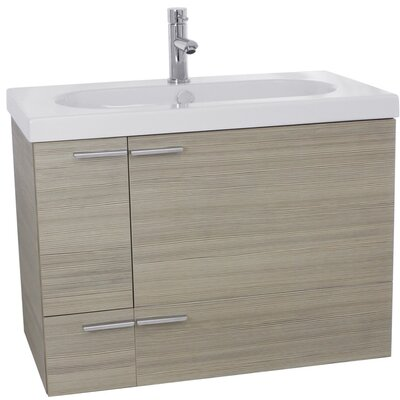 New Space 31 Single Bathroom Vanity Set Base Finish: Larch Canapa