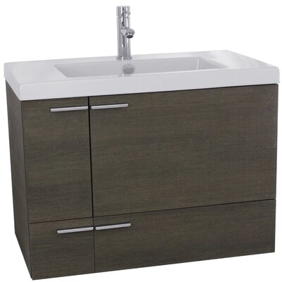 New Space 31 Single Bathroom Vanity Set Base Finish: Gray Oak