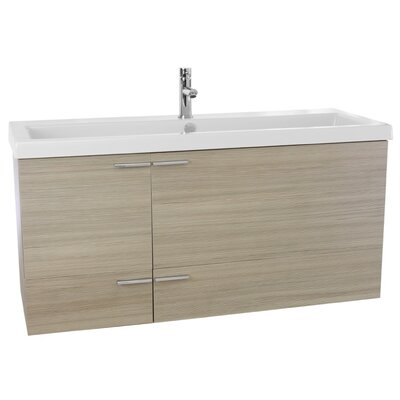 New Space 47 Single Bathroom Vanity Set Base Finish: Larch Canapa