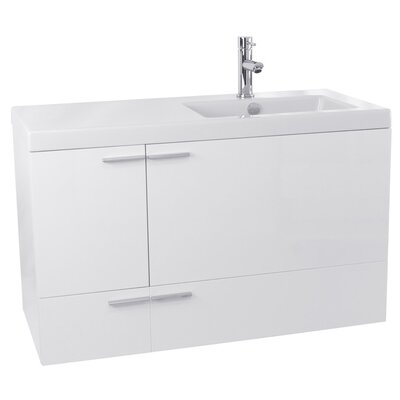 New Space 39 Single Bathroom Vanity Set Base Finish: Glossy White