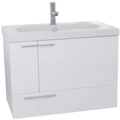 New Space 31 Single Bathroom Vanity Set Base Finish: Glossy White