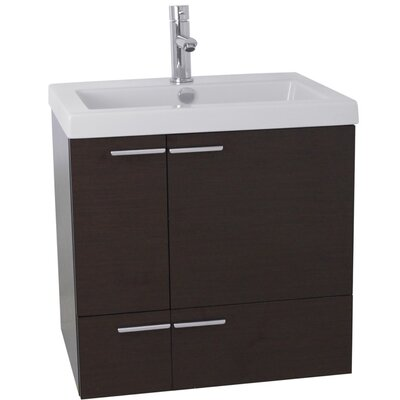 New Space 23 Single Bathroom Vanity Set Base Finish: Wenge