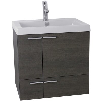 New Space 23 Single Bathroom Vanity Set Base Finish: Gray Oak