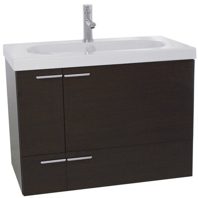 New Space 31 Single Bathroom Vanity Set Base Finish: Wenge