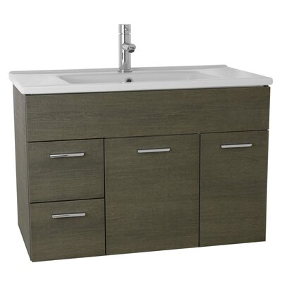 Loren 33 Single Bathroom Vanity Set Base Finish: Gray Oak