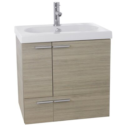 New Space 23 Single Bathroom Vanity Set Base Finish: Larch Canapa