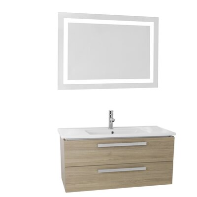 Dadila 32.7 Single Bathroom Vanity Set with Mirror Base Finish: Style Oak