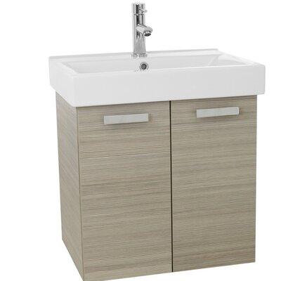 Cubical 24 Single Wall Mount Bathroom Vanity Set Base Finish: Larch Canapa