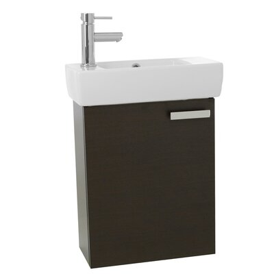 Cubical 19 Single Bathroom Vanity Set Base Finish: Wenge