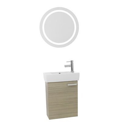 Cubical 19 Single Bathroom Vanity Set with Mirror Base Finish: Larch Canapa