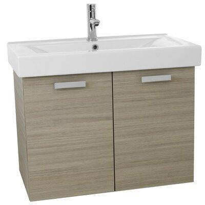 Cubical 32 Single Wall Mount Bathroom Vanity Set Base Finish: Larch Canapa