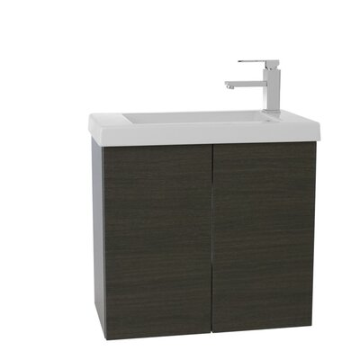 Happy Day 23 Single Bathroom Vanity Set Base Finish: Gray Oak