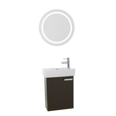 Cubical 19 Single Bathroom Vanity Set with Mirror Base Finish: Wenge