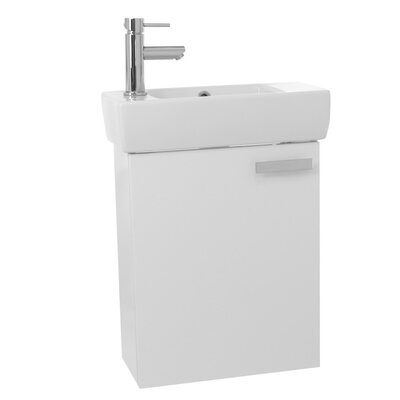 Cubical 19 Single Bathroom Vanity Set Base Finish: Glossy White